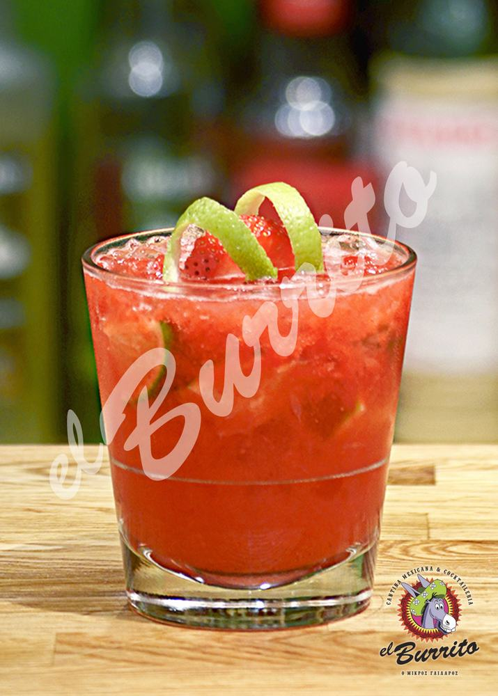 strawberry caipirovska